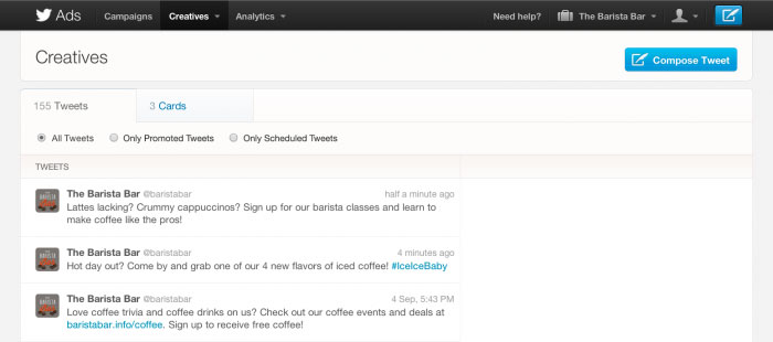 Twitter Scheduled Tweets For Business Advertising