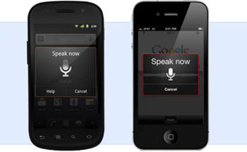 google voice search on iOS and android