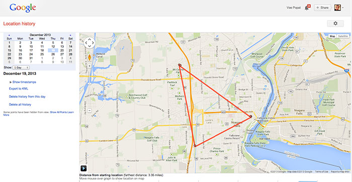 Google Location History - The Browser Map