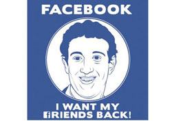 i want my friends back. Facebook organic reach is down.