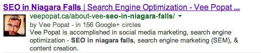 vee popat google authorship example