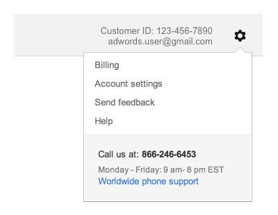 google adwords changes to the user interface
