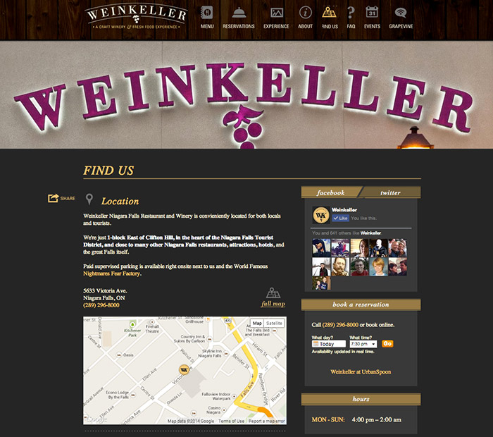 weinkeller google map and directions