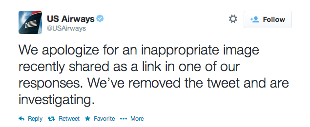 US Airways apology tweet