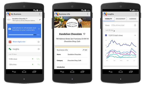 google my business android app