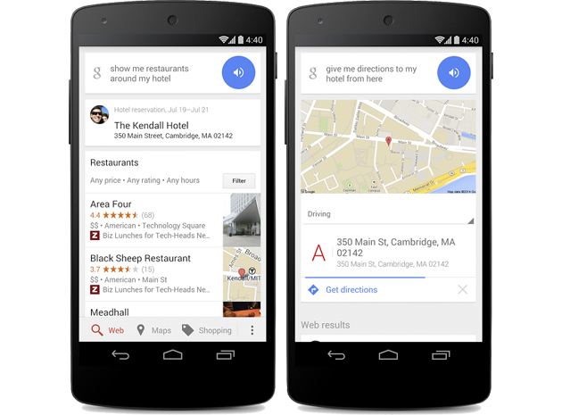 google hotel area search example