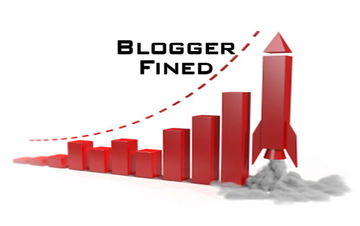 blogger fined for negative review
