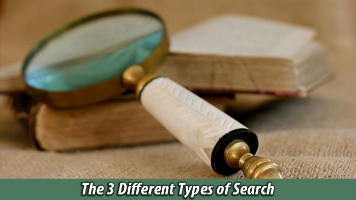 three different types of searches on Google