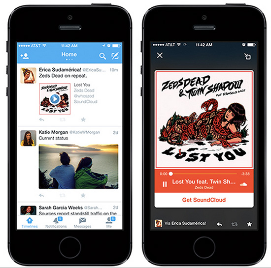 new twitter audio cards
