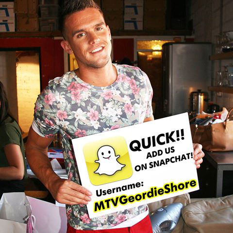 Geordie Shore and MTV Snapchat