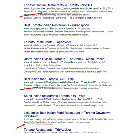 local SEO tips - meta descriptions are a relevancy factor