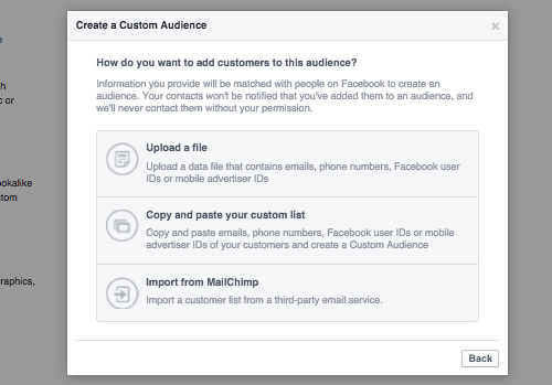 How to create a Facebook Custom Audience