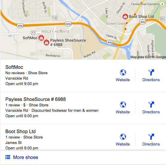 Google Local Business Listing VPDM Digital Marketing St.Catharines