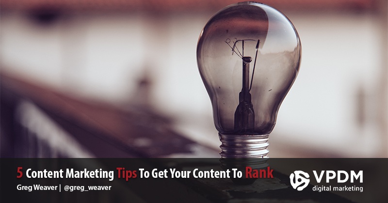 Content Marketing Tips from VPDM