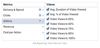 Facebook Video Metrics. See how you video is played.