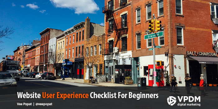 Website User Experience Tips and Tricks. A checklist from VPDM Digital Marketing and SEO.