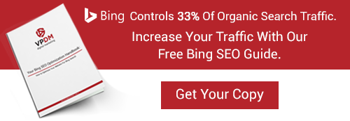 Free Guide to Bing SEO optimization from VPDM Digital Marketing and SEO in Toronto, Hamilton, and Niagara.
