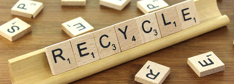 Scrabble block letters spelling recycle. Digital Marketing Advice from VPDM Digital Marketing and SEO Company Niagara and Hamilton Ontario.