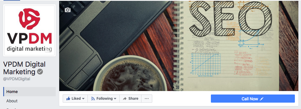 Facebook profile and cover photo for VPDM Digital Marketing. How to optimize your Facebook Business Page for a winning social strategy by VPDM Digital Marketing in St. Catharines Ontario.