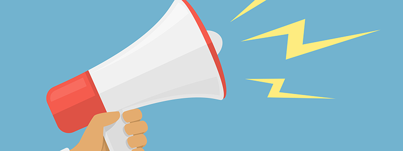 Megaphone graphic for wordpress readability tips