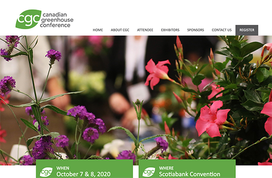Canadian Green House Conference Homepage. Google Ads PPC management company Niagara, Hamilton. Google Ads consultant.