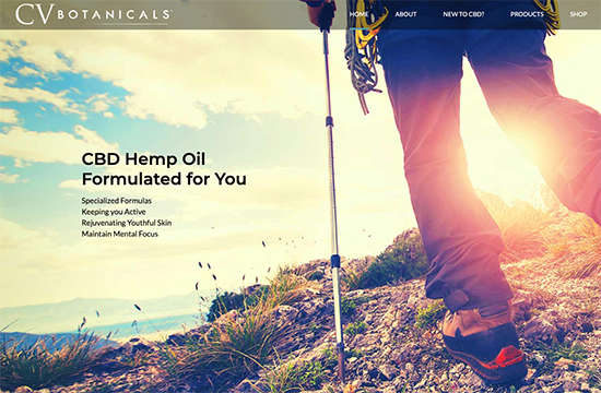 cvBotanicals CBD company website homepage. SEO company in hamilton. SEO consultant in Niagara and St. Catharines.