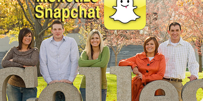 snapchat monetization with college kids